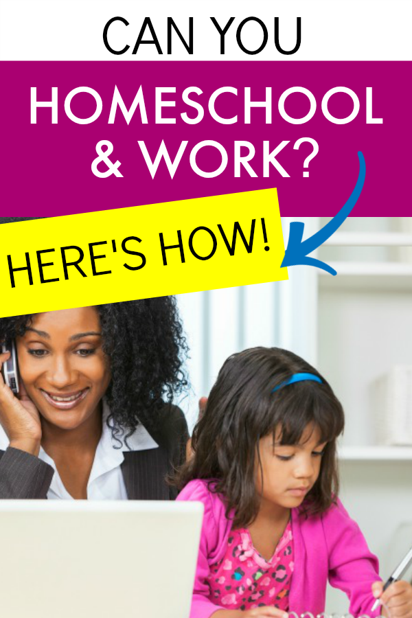 Can You Homeschool And Work Fulltime Parttime or Work At Home African American business woman talking on phone and looking at laptop with African American little girl sitting on lap and doing homeschool work